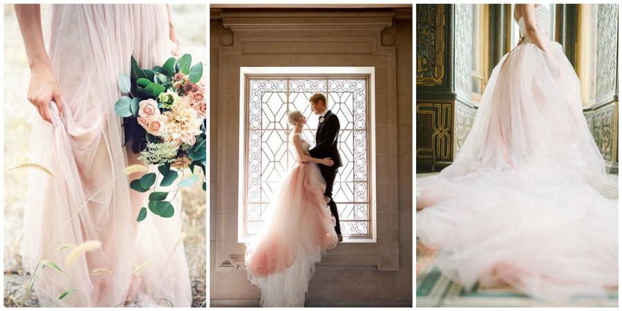 розовое свадебное платье 1