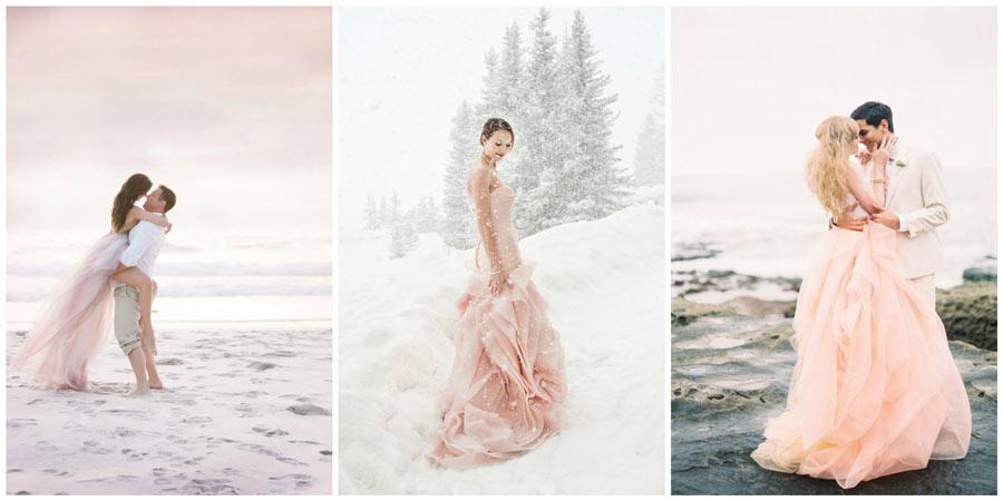 розовое свадебное платье 2