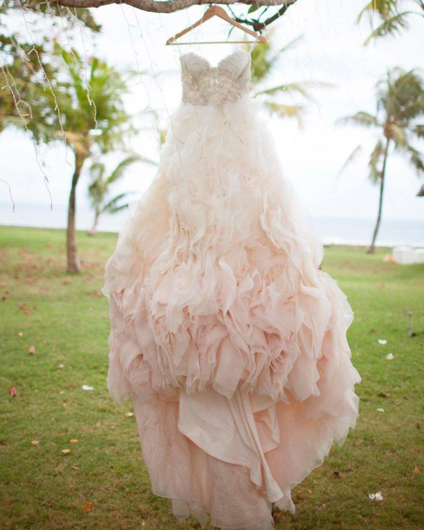 розовое свадебное платье 3