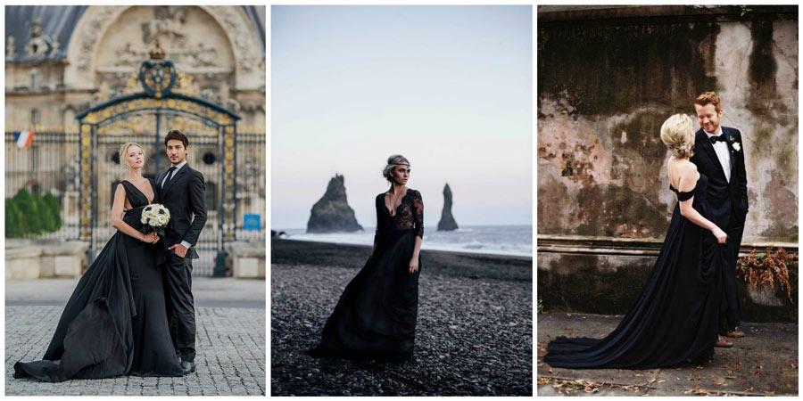 черное свадебное платье 1