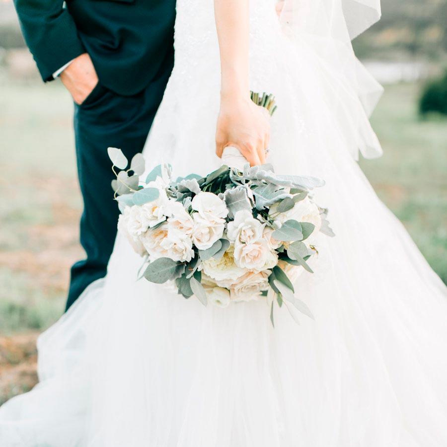белый букет невесты 3