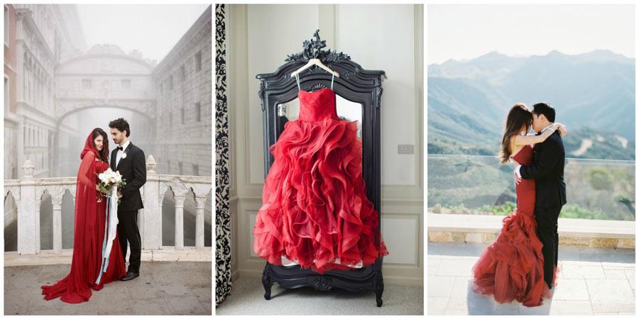 красное свадебное платье 2