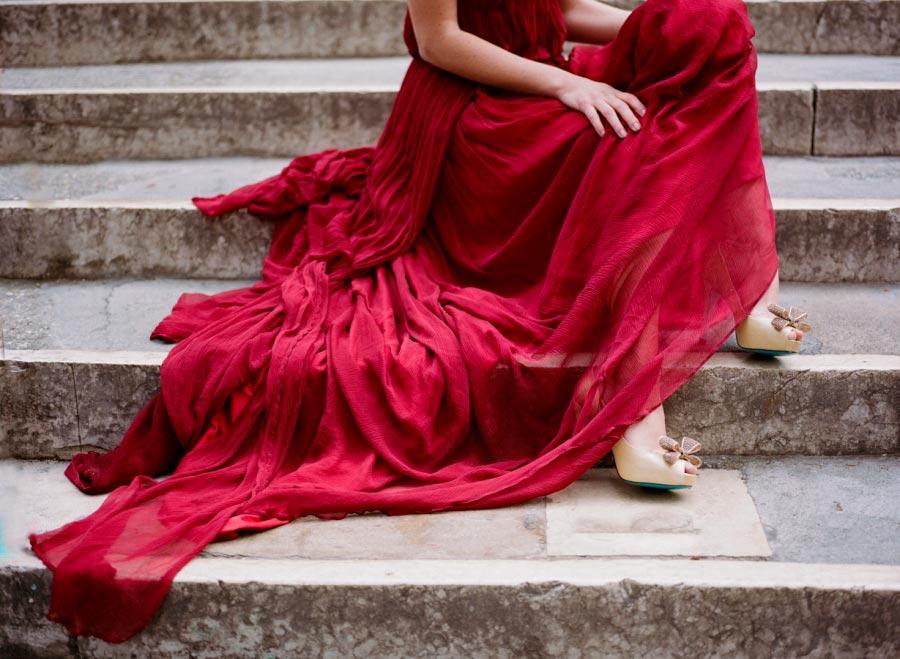 красное свадебное платье 3