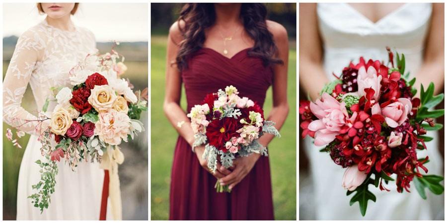 красный букет невесты 1