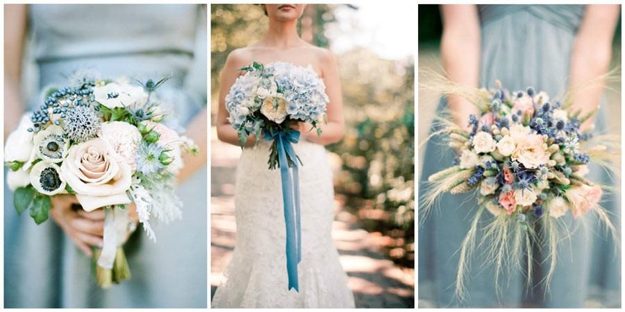 синий букет невесты 1