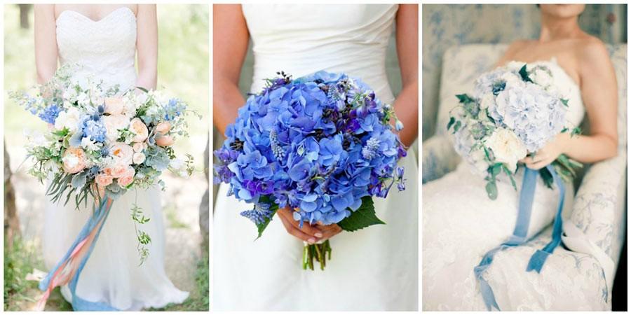 синий букет невесты 2