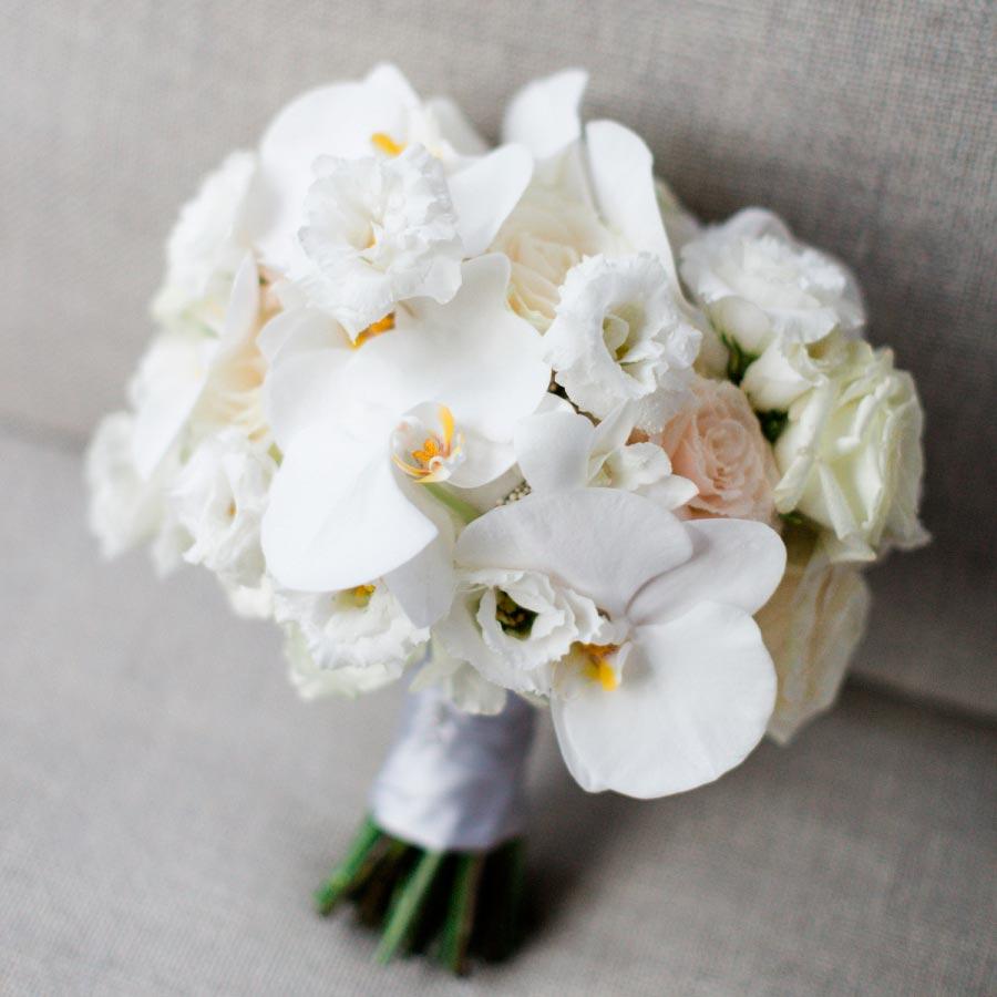 свадебный букет из орхидей 4