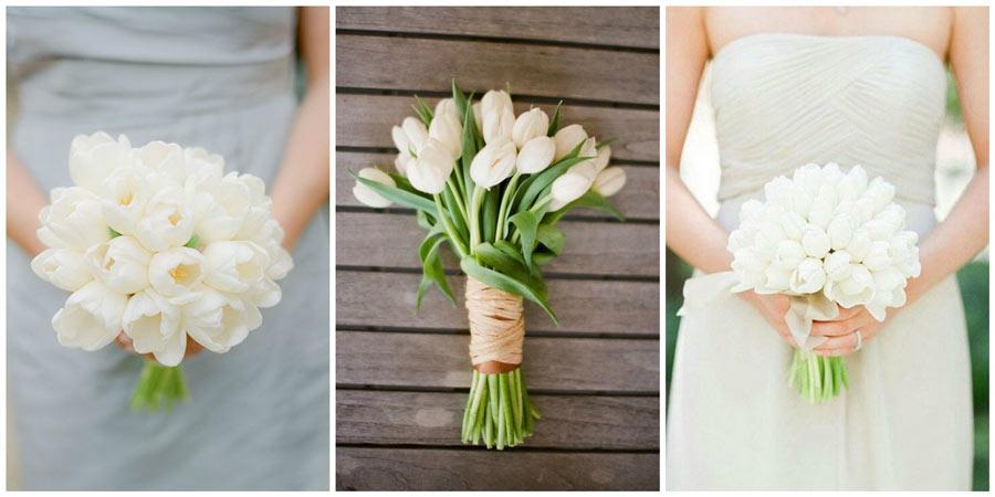 свадебный букет из тюльпанов 1