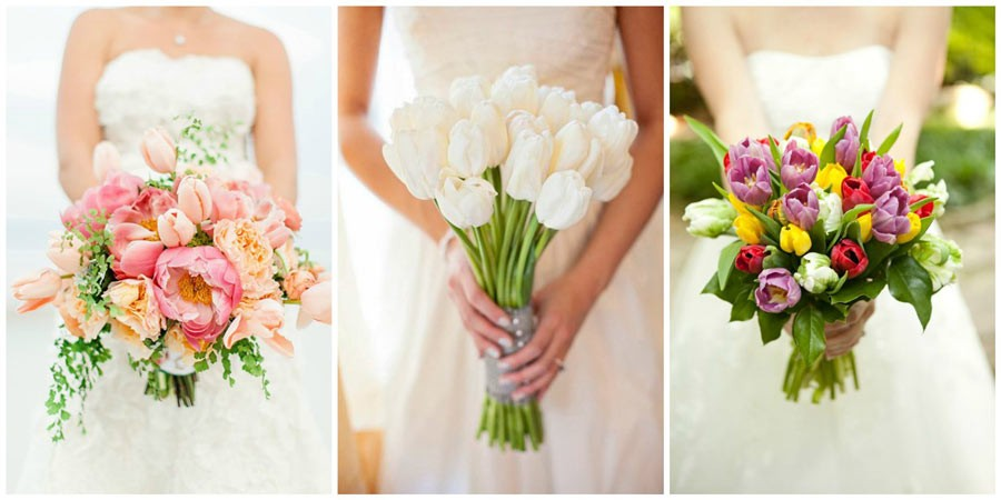 свадебный букет из тюльпанов 2