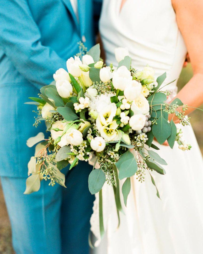 свадебный букет из тюльпанов 3