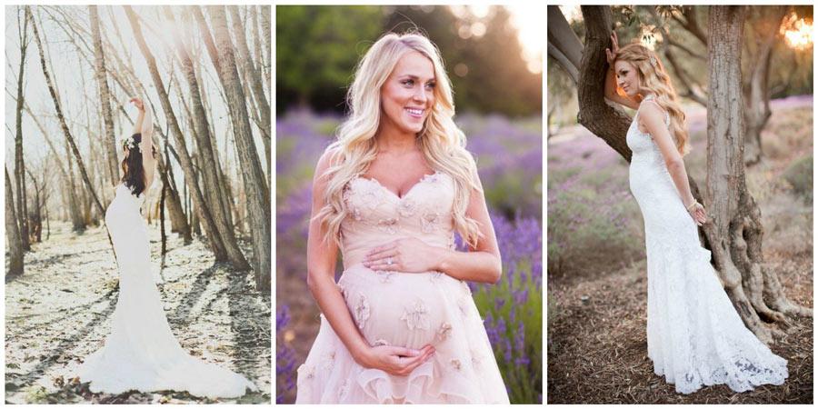 свадебные платья для беременных 1