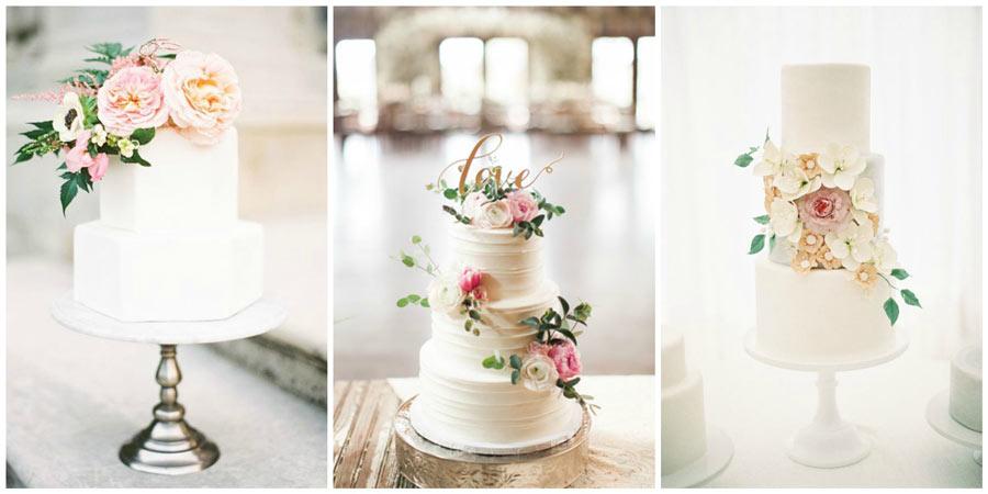 белый свадебный торт 1