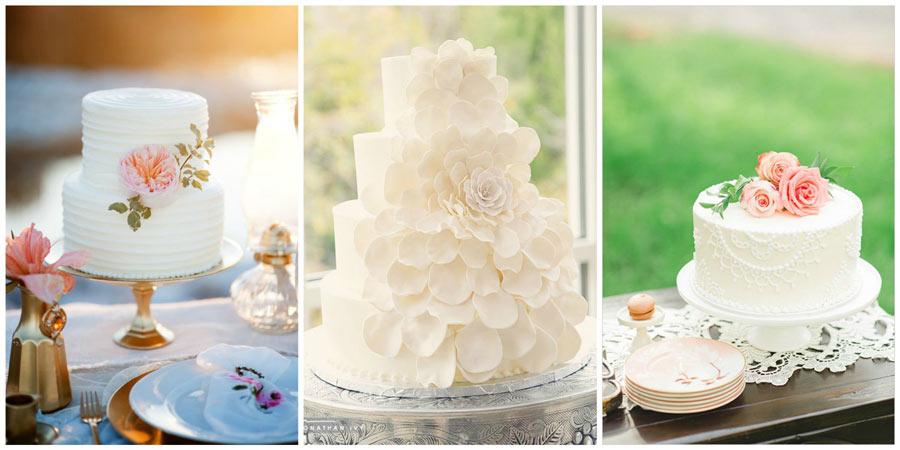белый свадебный торт 2