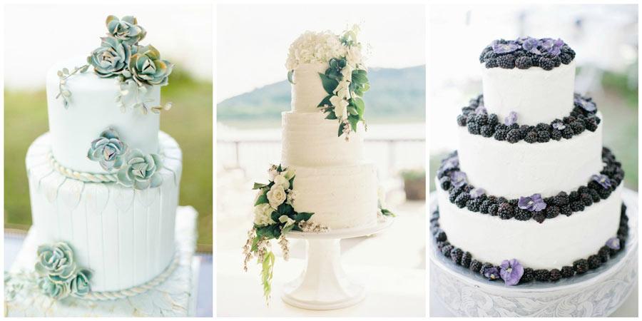 белый свадебный торт 3
