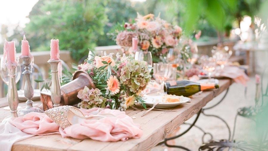 оформление розовой свадьбы 16