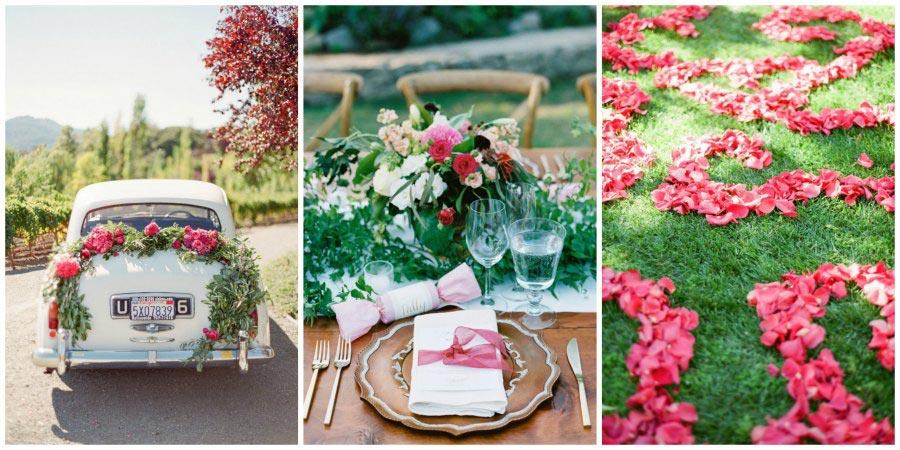 оформление розовой свадьбы 9