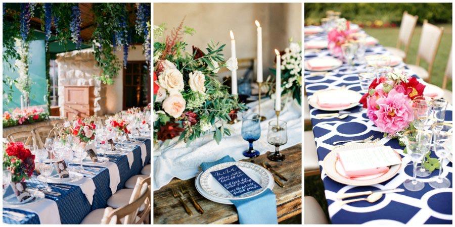 оформление синей свадьбы 10