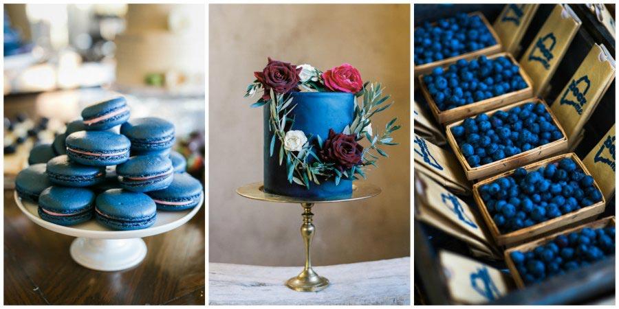 оформление синей свадьбы 11