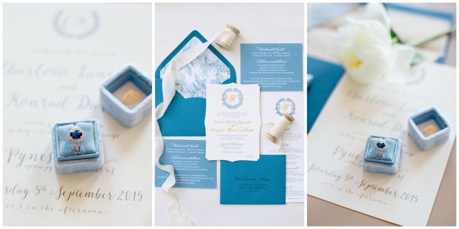 оформление синей свадьбы 13