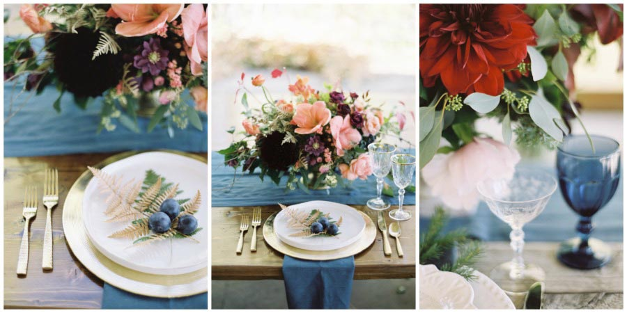 оформление синей свадьбы 3
