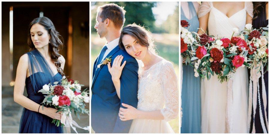 оформление синей свадьбы 4