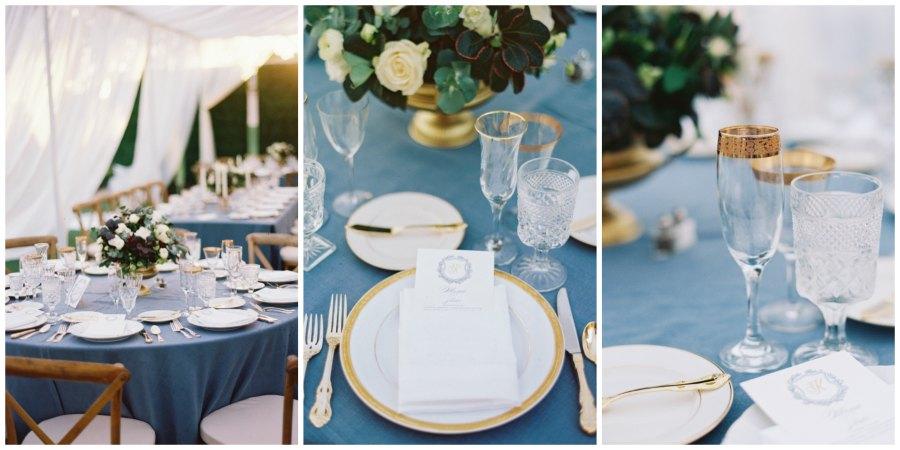 оформление синей свадьбы 9