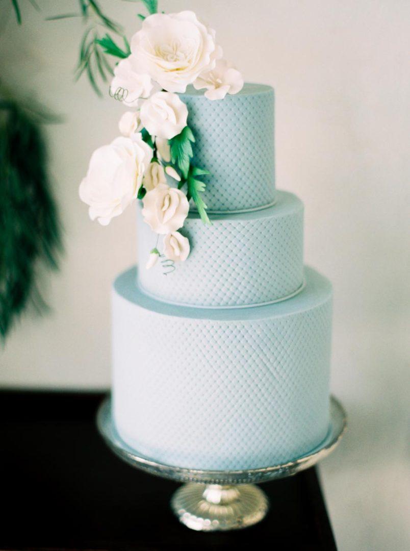 синий свадебный торт 5