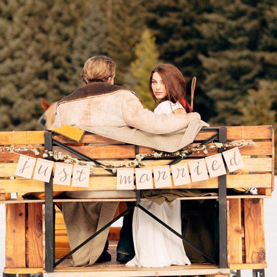 Стили зимней свадьбы