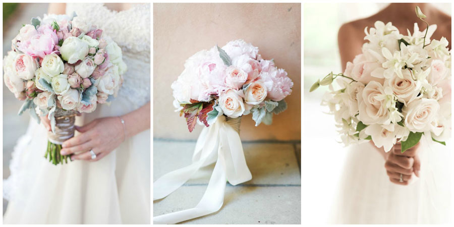 свадебный букет из роз 1