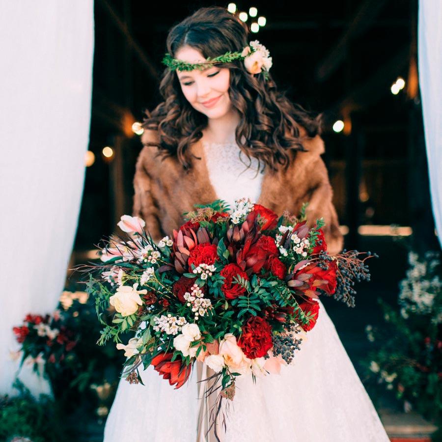 зимний букет невесты 5