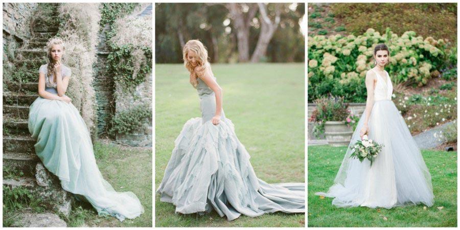 голубое свадебное платье 1
