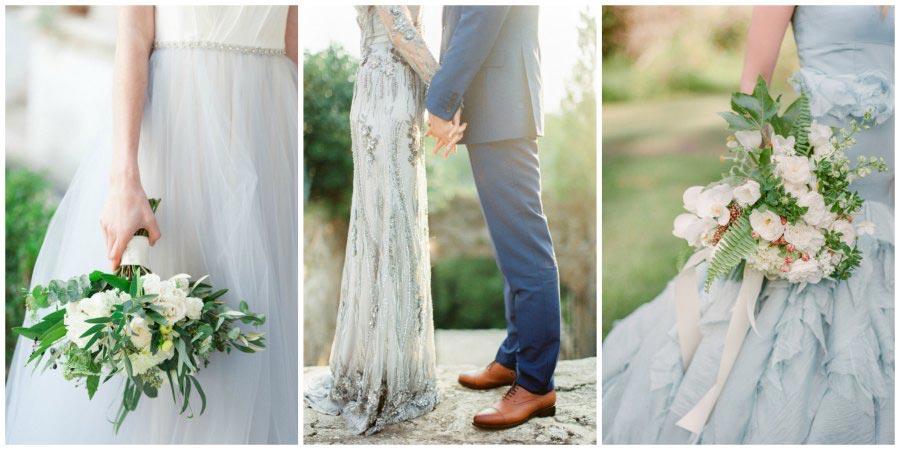 голубое свадебное платье 2