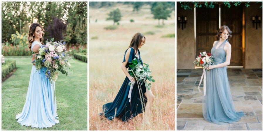 голубое свадебное платье 3