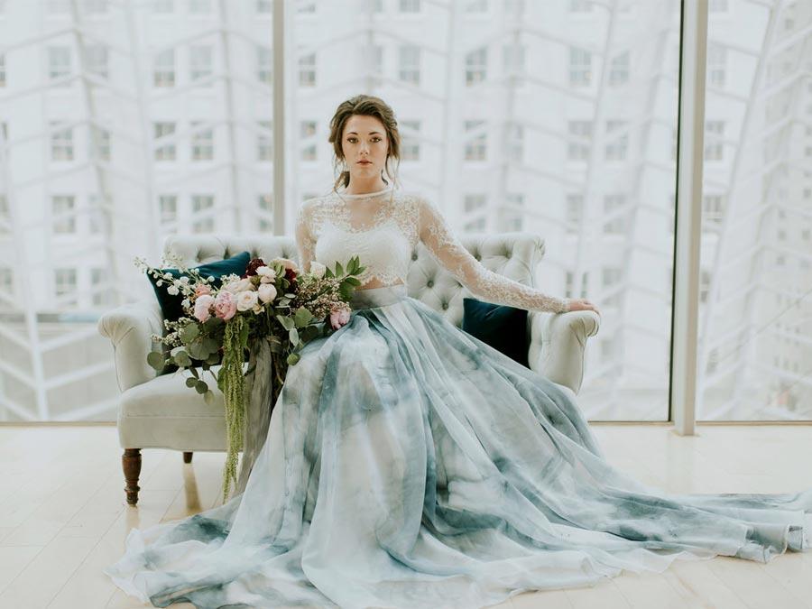 голубое свадебное платье 4
