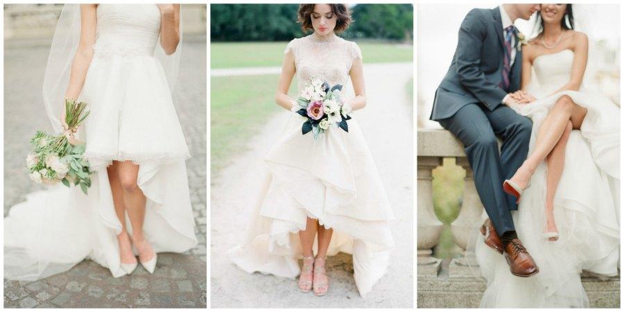 короткие свадебные платья 1