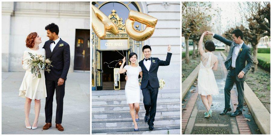 короткие свадебные платья 2