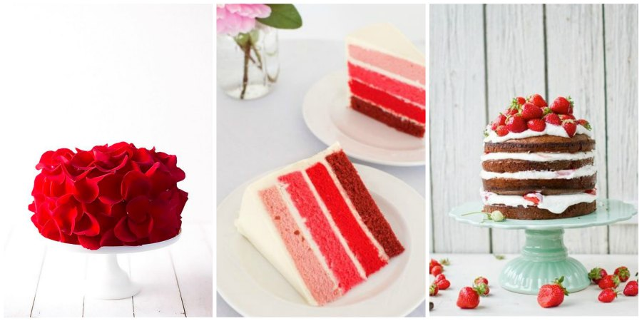 красный свадебный торт 1