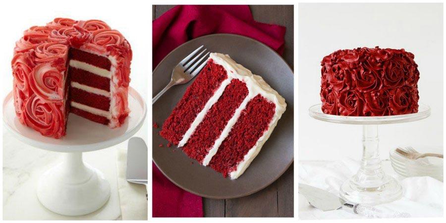 красный свадебный торт 2