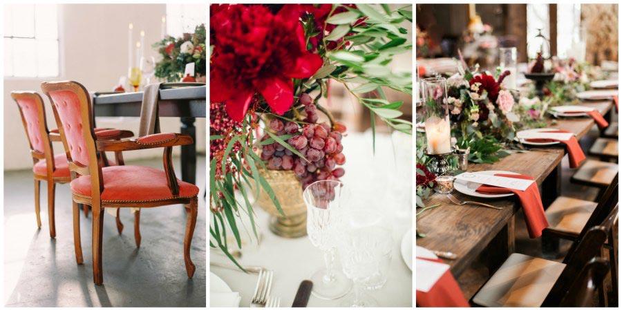 оформление красной свадьбы 3