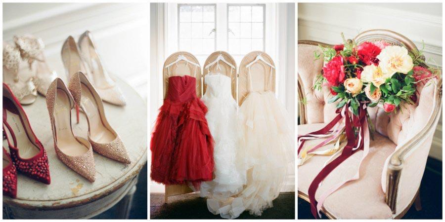 оформление красной свадьбы 8