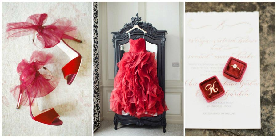 оформление красной свадьбы 9