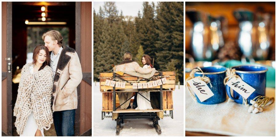 оформление зимней свадьбы 1