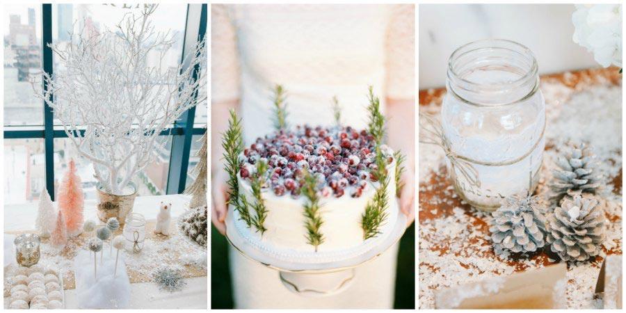 оформление зимней свадьбы 7