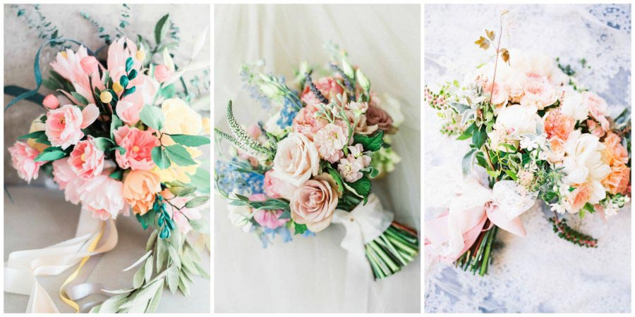 розовый букет невесты 1