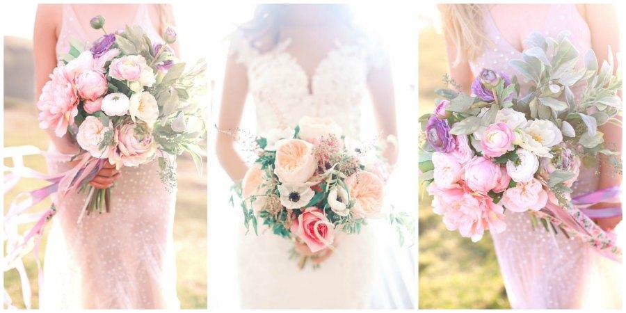 розовый букет невесты 2
