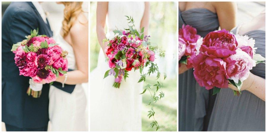 розовый букет невесты 3