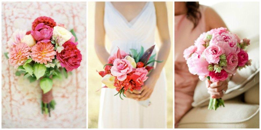 розовый букет невесты 4
