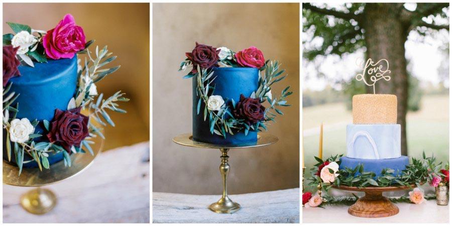 синий свадебный торт 1