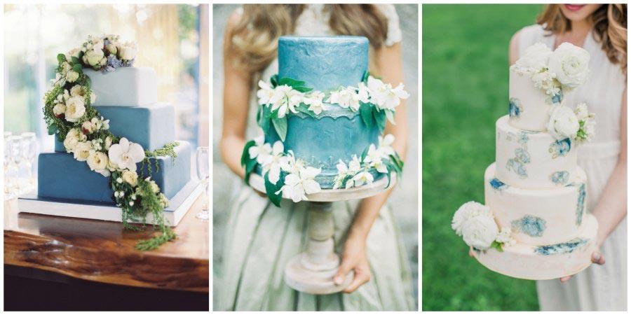 синий свадебный торт 2