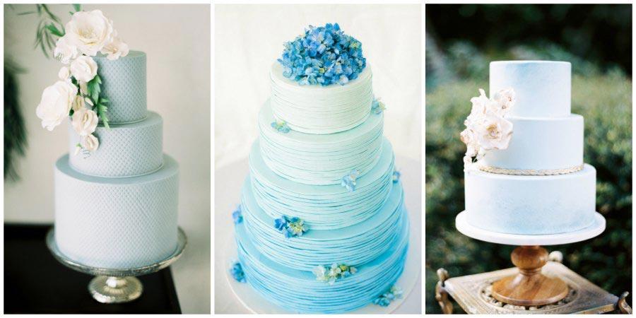 синий свадебный торт 3